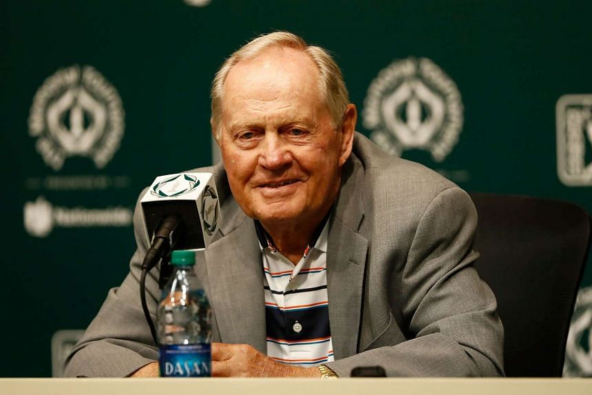 Jack Nicklaus speaks to the media prior to The Memorial Tournament Presented By Nationwide at Muirfield Village Golf Club in Dublin, Ohio on Tuesday (May 30).