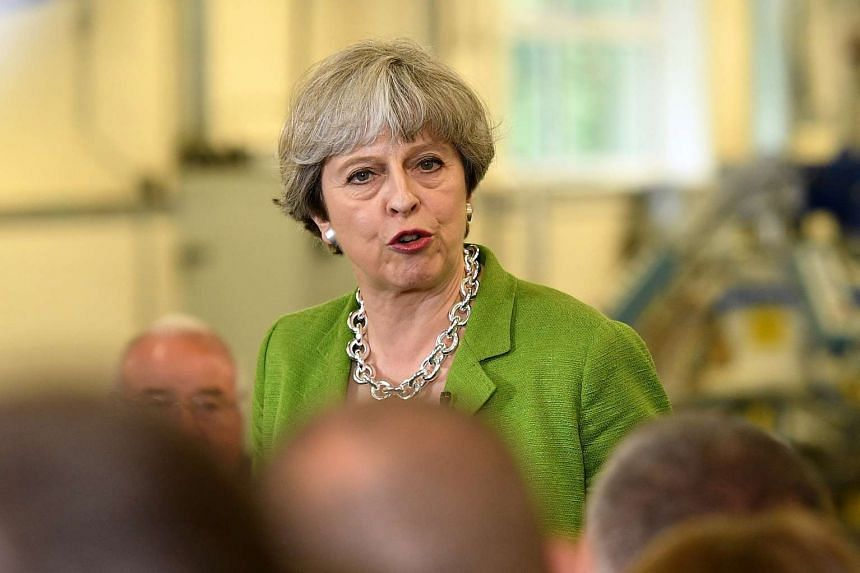 Britain's Prime Minister Theresa May at an election campaign event in Bath, Britain, May 31, 2017.