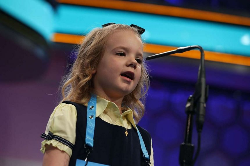 Edith Fuller of Tulsa, Oklahoma, is the youngest speller this year at age six.