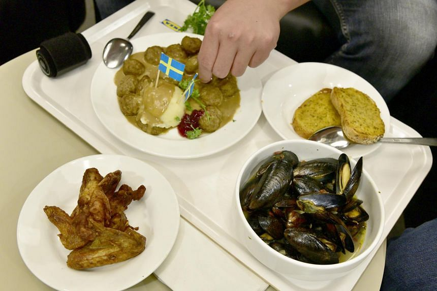 Photo of meatballs, garlic bread, mussels and chicken wings served at Ikea Restaurant.