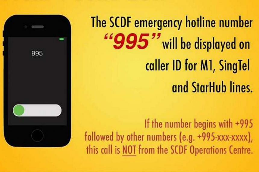The SCDF said the move enhances its Operations Centre's call taking feature.
