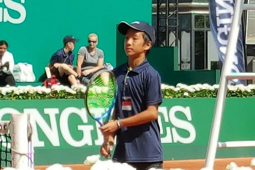 Singapore's Matthias Wong, who trained this month at the Mouratoglou Tennis Academy in Nice, will play his first match today in the Longines Future Tennis Aces tournament in Paris.