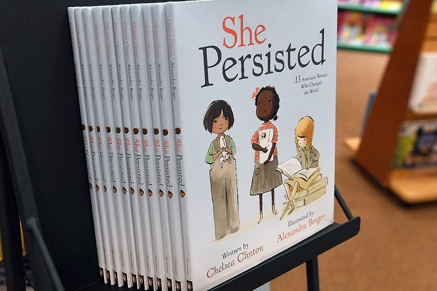 """Former presidential candidate Hillary Clinton makes only a cameo appearance in her daughter's third book. It features 13 diverse US women who """"changed the world"""". Among them are abolitionist Harriet Tubman, athlete Flo-Jo, deaf-blind activist Hellen"""
