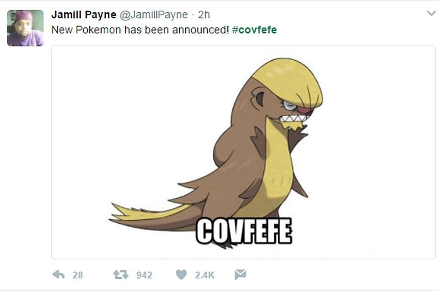 United States President Donald Trump's tweet spawned humorous memes (above) on Twitter, as people tried to decipher its meaning.