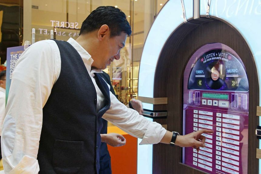 The public will get to decide on the local hit songs to be made over in the campaign Pop-Up Noise: The Great Singapore Replay. They can choose from 25 songs on jukebox-shaped voting booths that will be making their way around Singapore from now to Ju