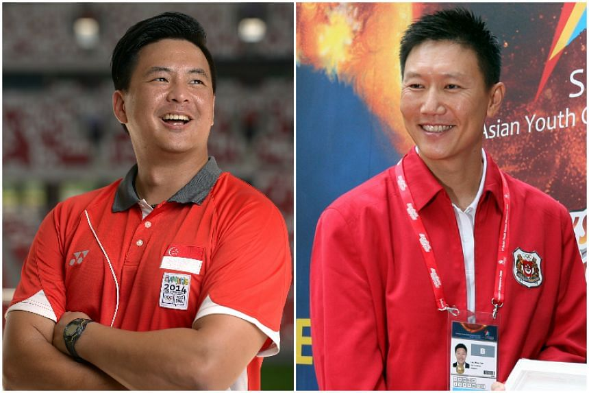 Mark Chay (left) and Lee Wung Yew will assist Milan Kwee, who is the Republic's chef de mission for the upcoming SEA Games.