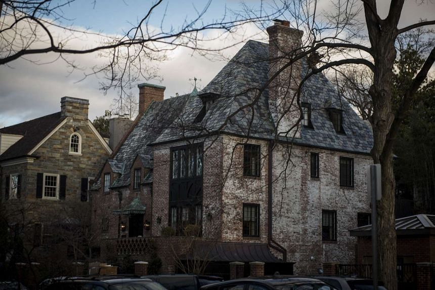 The home of the Obama family in the Kalorama neighborhood in Washington.