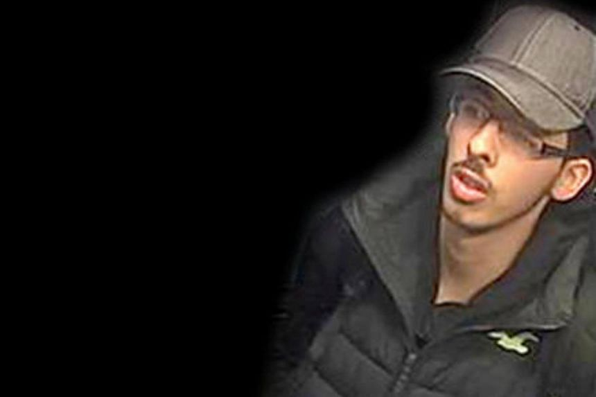 Salman Abedi is seen in this image taken from CCTV on the night he committed the attack in Manchester.
