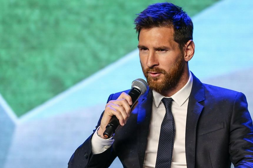 FC Barcelona's Argentinian striker Lionel Messi during a news conference in Beijing, China, on June 1, 2017.