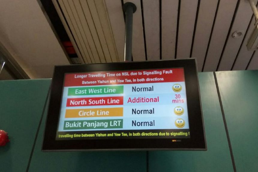 The North-South Line was hit by another delay today (June 2).