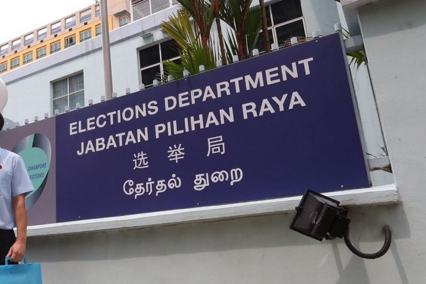 A signboard of the Election Department.