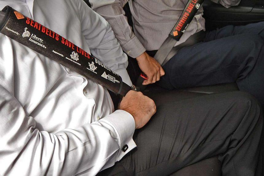 Generic photo of passengers wearing seat belts. PHOTO: ST FILE