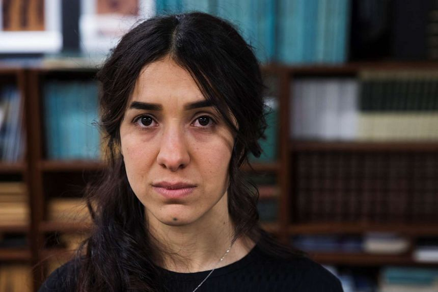 Yazidi survivor Nadia Murad at United Nations headquarters in New York, March 9, 2017.