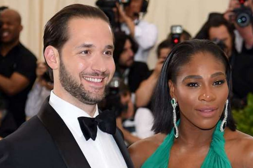 Serena Williams and fiance Alexis Ohanian at the Metropolitan Museum of Art in New York City on May 1.