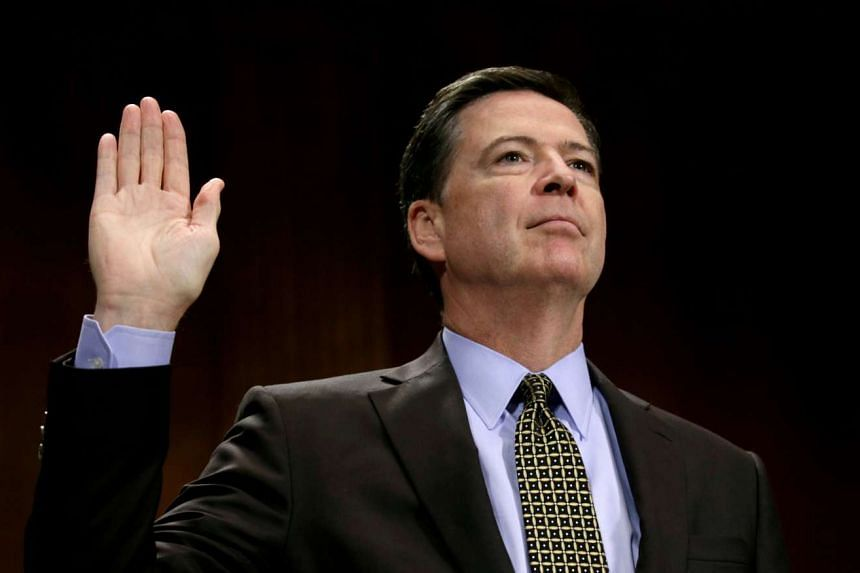 Comey is sworn in to testify before a Senate Judiciary Committee hearing on May 3, 2017.
