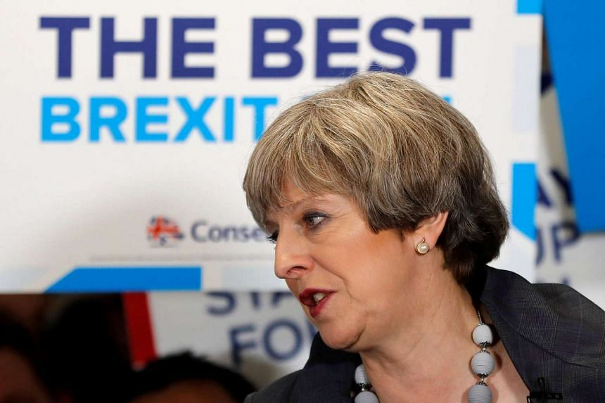There is a spectrum of possibilities for the election in Britain, called by Prime Minister Theresa May. PHOTO: AFP