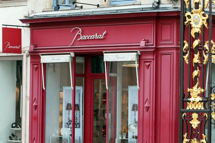 This file photo taken on Oct 16, 2012 shows a shop of French crystal glass maker Baccarat in Nancy, eastern France.