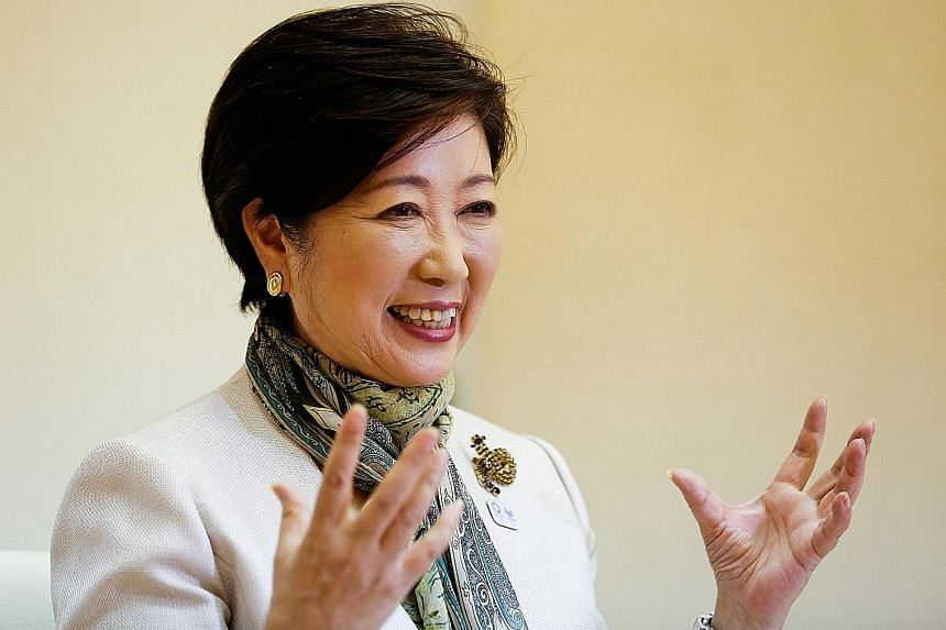 Ms Yuriko Koike was elected Tokyo governor last year in a landslide victory against LDP's candidate.