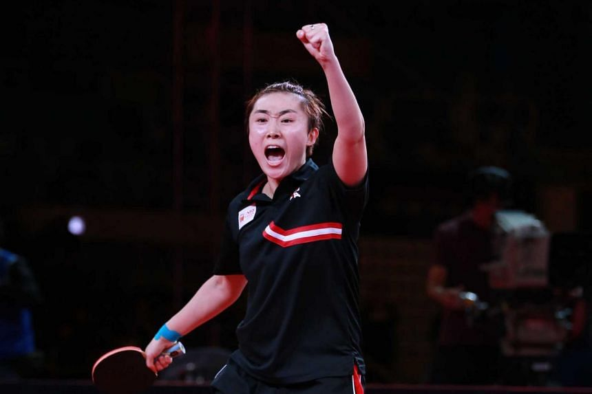 Feng Tianwei had also won the Women's World Cup last year and the Asian Championships this year.