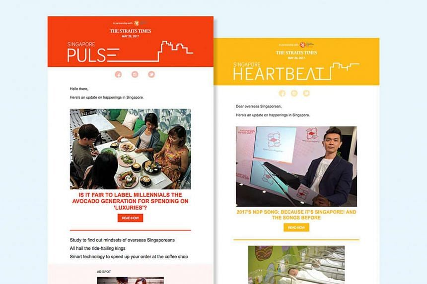 The Straits Times will be launching two new digital publications, Singapore Heartbeat and the Singapore Pulse for Singaporeans living abroad.