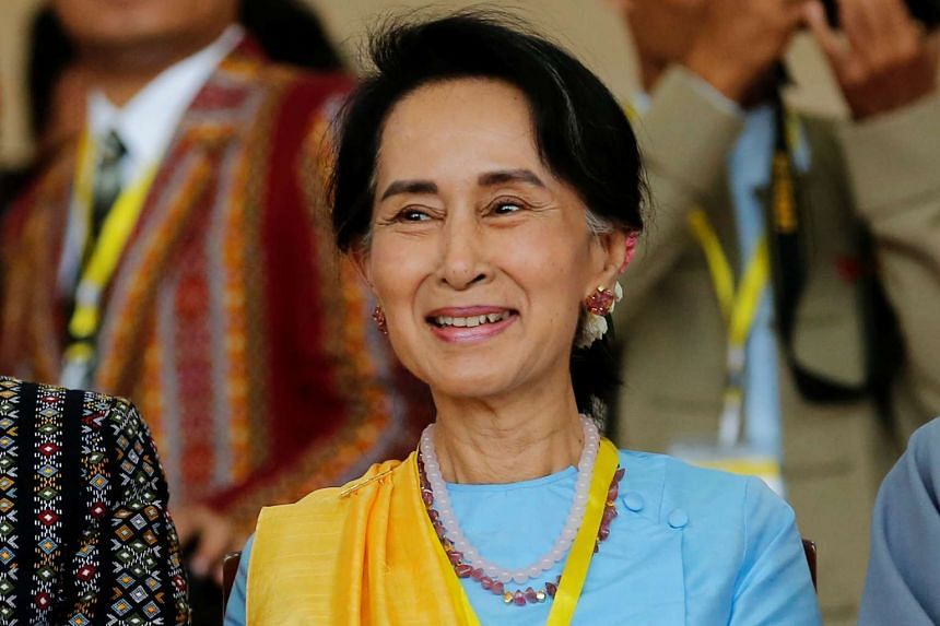 Suu Kyi's (above) June 5-9 trip follows a fresh round of peace talks in the capital Naypyidaw.