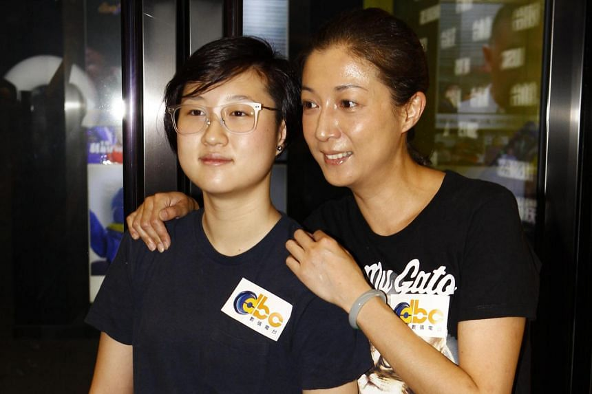 Former beauty queen Elaine Ng with daughter Etta.