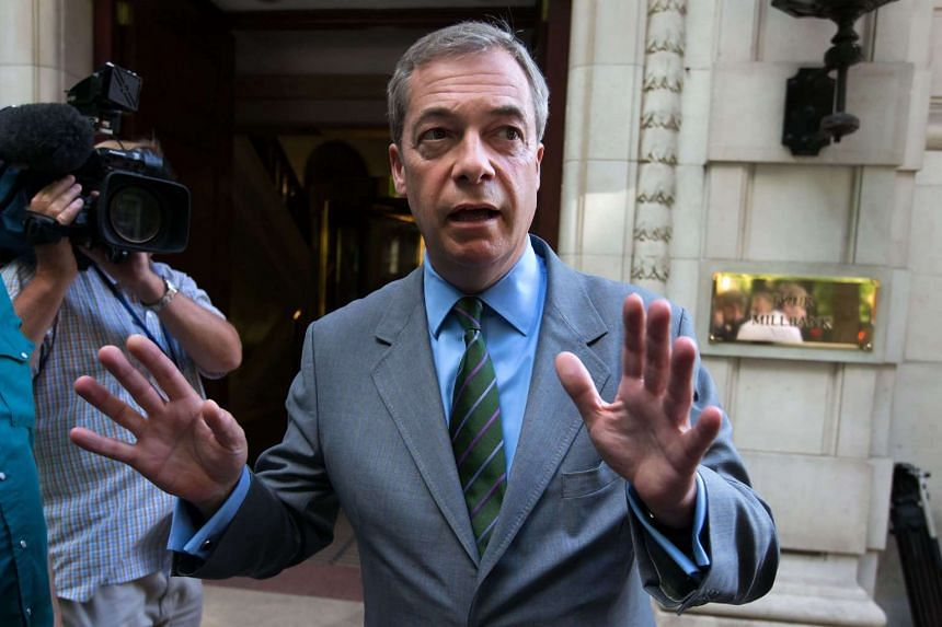 """Brexit campaigner Nigel Farage dismissed a report that he was a """"person of interest"""" in an FBI probe into possible collusion between Russia and Donald Trump's presidential campaign."""