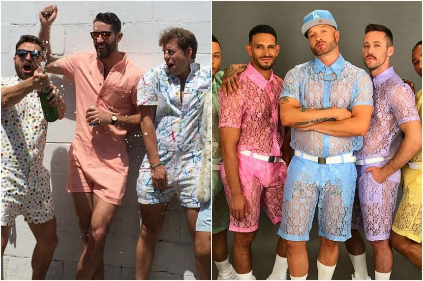 First came male rompers, and now lace shorts for men.