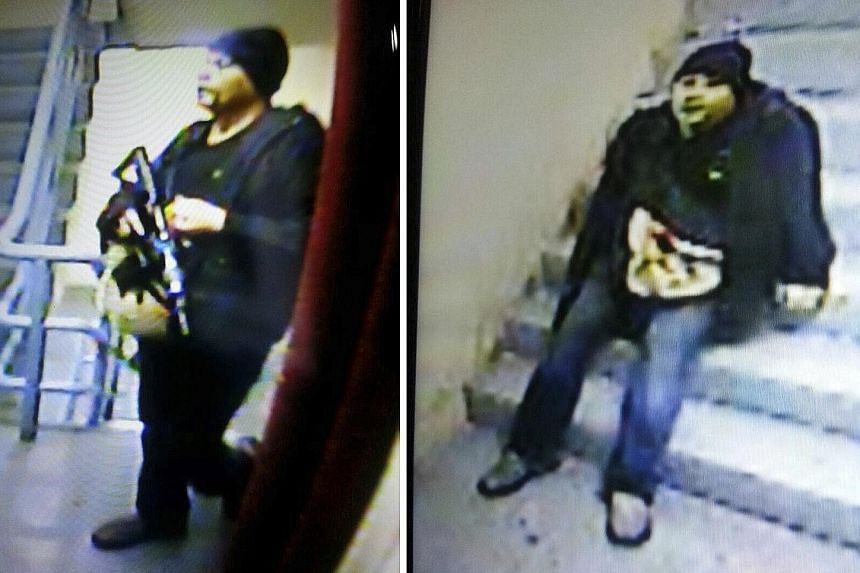 """CCTV video screengrabs of the alleged gunman. Police described him as """"Caucasian"""" but his identity has yet to be determined. A news site says he had been a """"long-time guest"""" at the hotel. A fireman breaking a window at Resorts World Manila yesterday."""