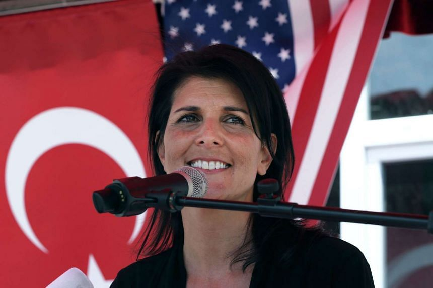 Haley (above, in a file photo) made her remarks in an interview with CNN.