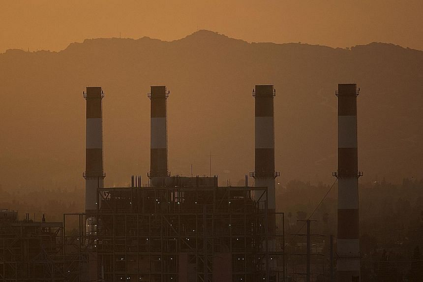 The Valley Generating Station in California. Mr Trump's exit decision has sparked a domestic backlash, with governors, mayors and firms drawing up plans to meet the Paris pact's targets.