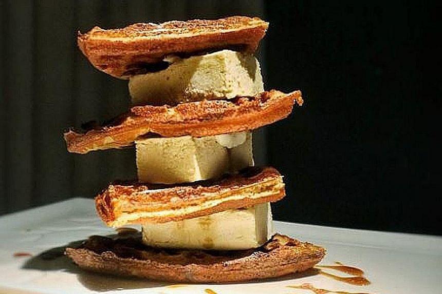 Durian waffles.
