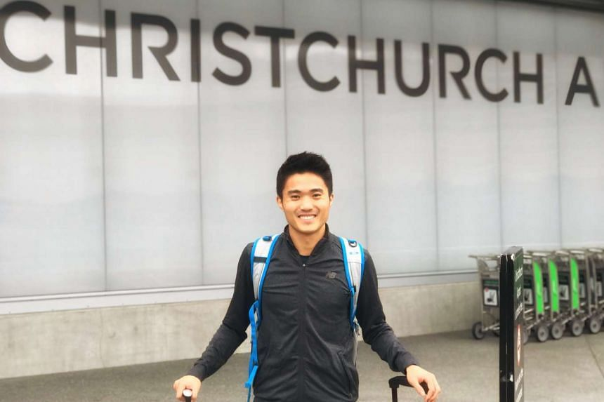 Singapore runner Mok Ying Ren finished eighth overall in the half-marathon at the Christchurch Marathon in New Zealand on June 4, 2017.