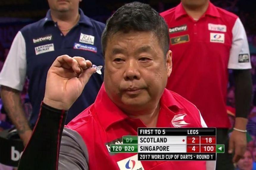 Paul Lim takes aim.