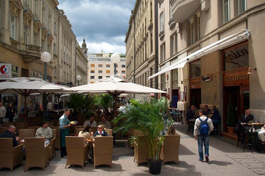 Cafes and bars in the Croatian capital, Zagreb.