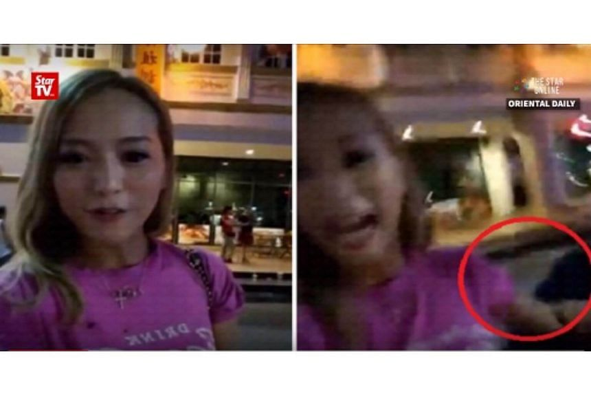 Hong Kong actress Grace Lam was using the live streaming function on Facebook in Bentong when a man appeared to snatch her handbag.