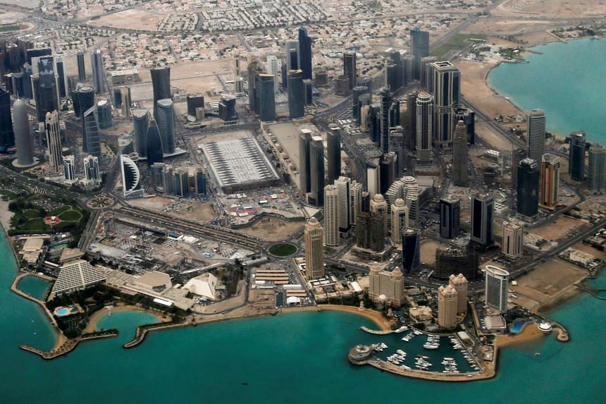 An aerial view of Doha's diplomatic area on Mar 21, 2013.