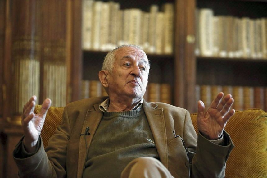 Spanish writer Juan Goytisolo at an interview at the National Library in Madrid, Spain, on April 21, 2015.