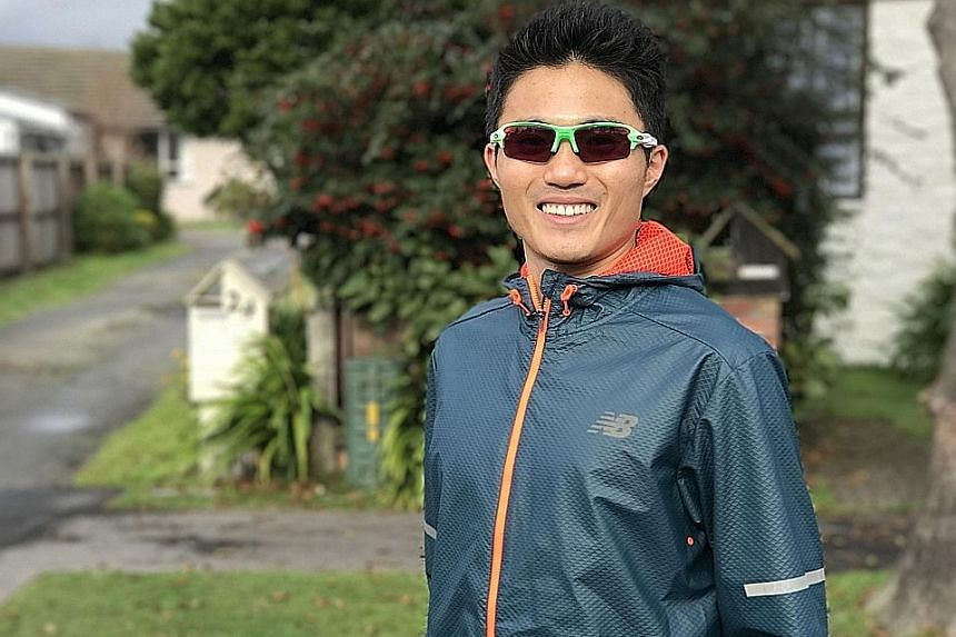 Singapore runner Mok Ying Ren felt conditions were not the best after finishing 10th at the Christchurch Marathon.