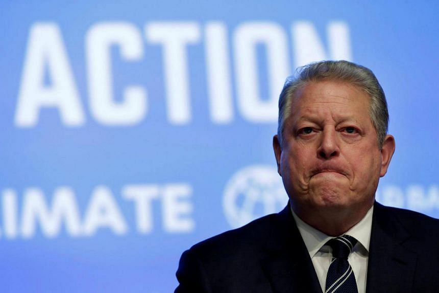Former US Vice-President Al Gore attending the Unlocking Financing for Climate Action session in Washington, US.