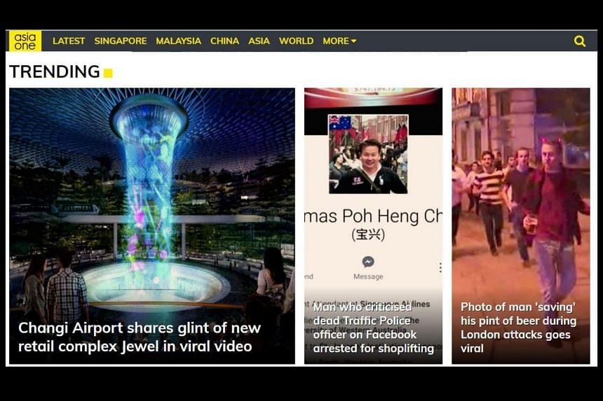 AsiaOne has relaunched with a new logo and a fresh mix of content.