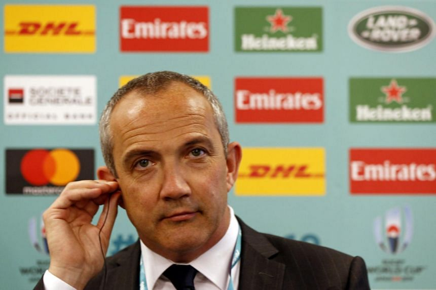 Italy's head coach Conor O'Shea arrives at the Kyoto state guesthouse to attend the Rugby World Cup Japan 2019 pool draw in Kyoto on May 10, 2017.