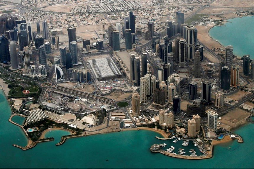 Emirates and Etihad airlines have suspended flights to Doha (above) as Saudi Arabia, Bahrain, the United Arab Emirates and Egypt said on Monday they will suspend air and sea travel to and from Qatar, in an escalation of a crisis that started over its