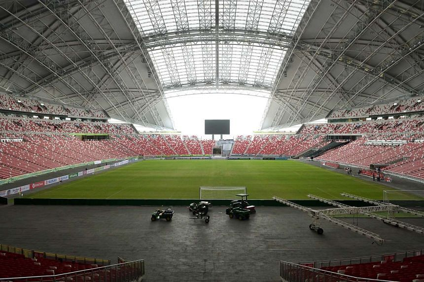 The pitch at the Kallang National Stadium at the Singapore Sports Hub, on Nov 21, 2014.