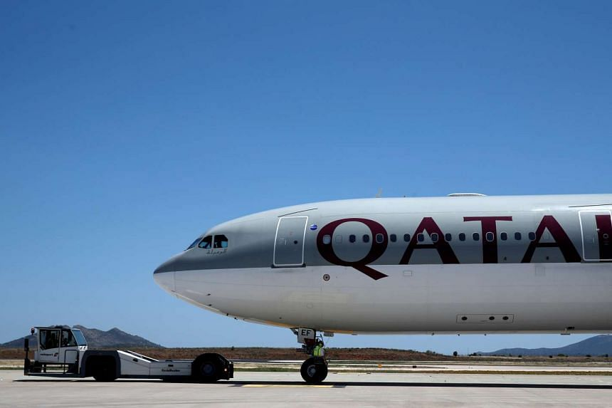 A Qatar Airways aircraft is seen at a runway of the Eleftherios Venizelos International Airport in Athens, Greece, May 16, 2016.
