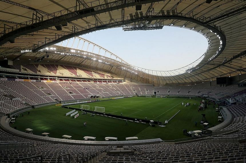 The Khalifa International Stadium in Doha is the first completed stadium built for the 2022 World Cup. A prolonged row could affect Qatar's plans.