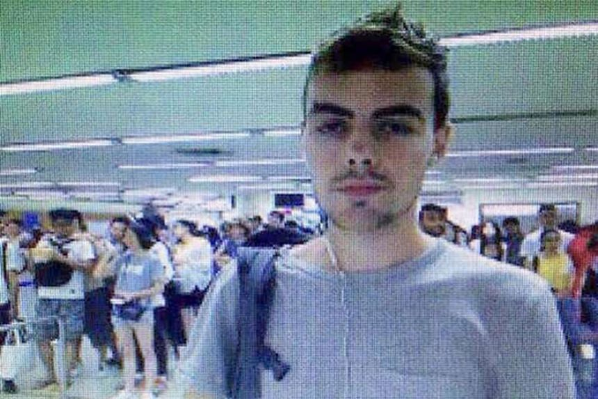 David Roach was sentenced to 14 months in jail for the Standard Chartered robbery in Singapore last year.