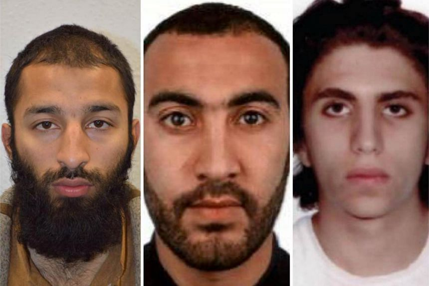 (From left) Khuram Shazad Butt, Rachid Redouane and Youssef Zaghba. They are identified as the three men shot dead by police officers during the attack on London Bridge and Borough Market