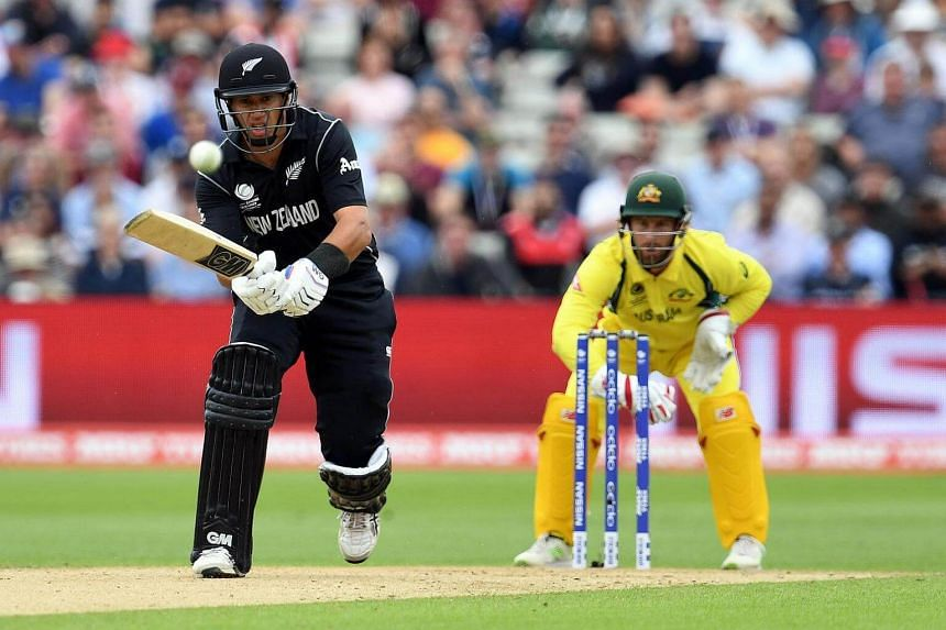 New Zealand's Ross Taylor batting during the ICC Champions trophy cricket match between Australia and New Zealand at Edgbaston in Birmingham on June 2.