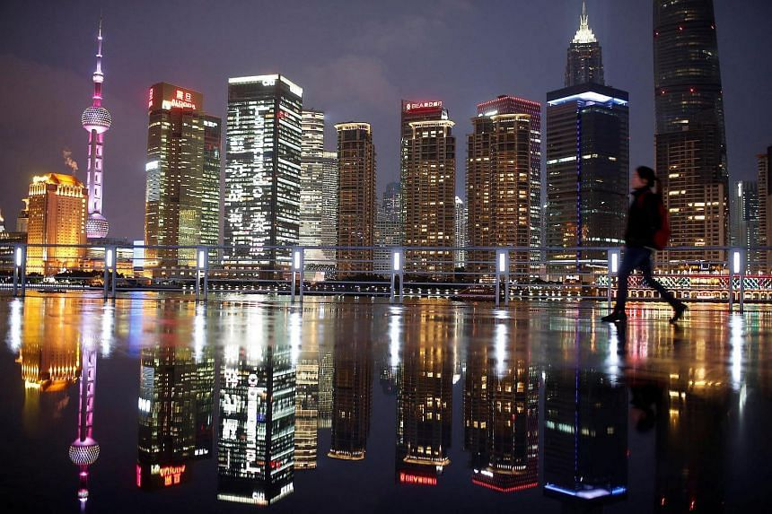 Shanghai's financial district of Pudong. China holds about half of the US$5 trillion (S$7 trillion) worth of new market opportunities in Asia presented by more sustainable business models, according to a recent report.